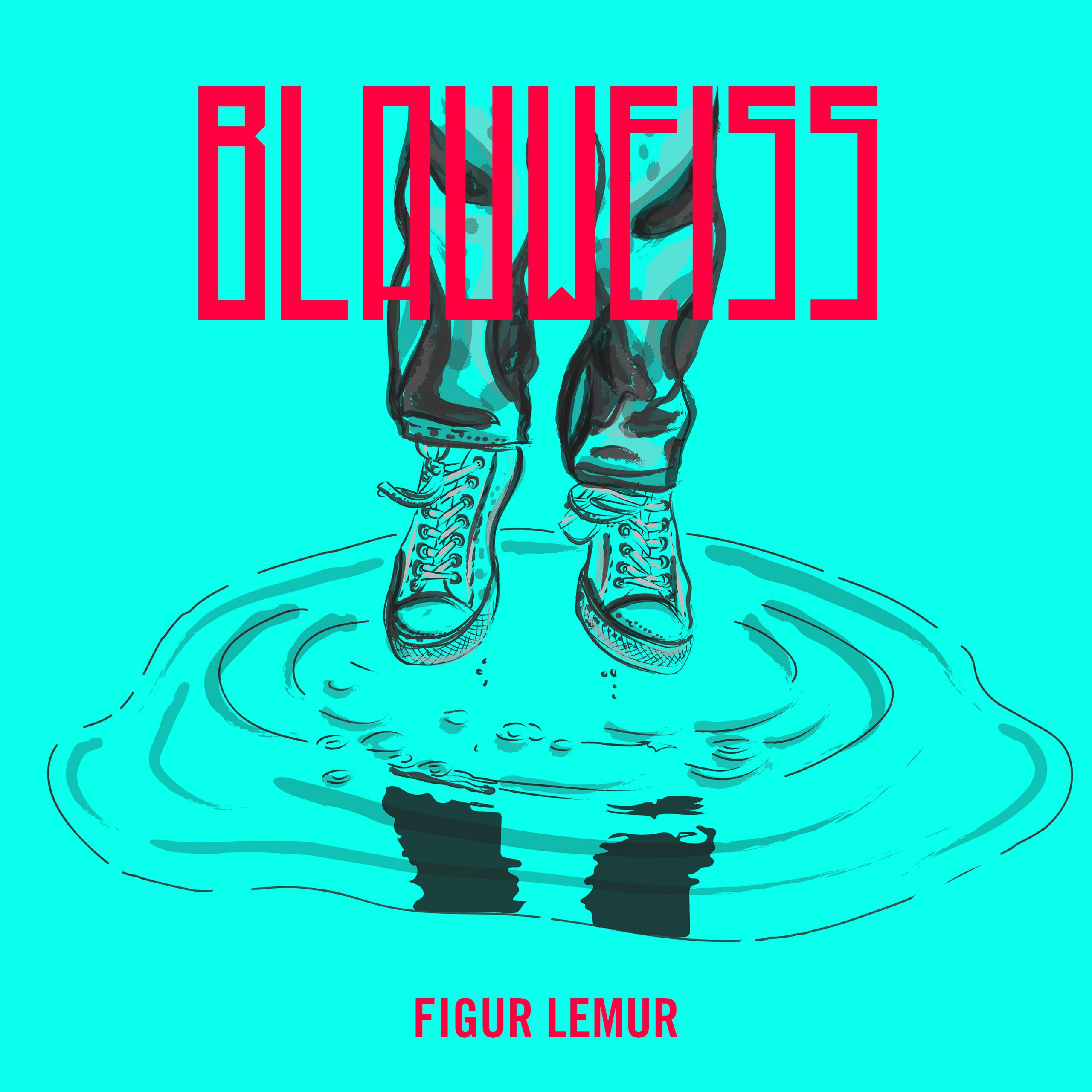 Figur Lemur - Blauweiß Single - Cover