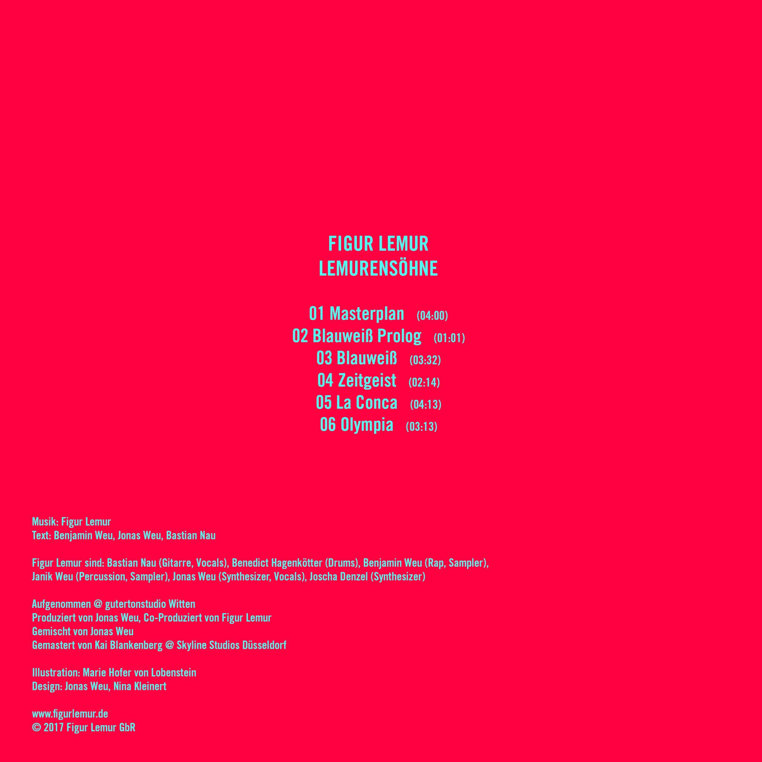 Figur Lemur - Lemurensöhne EP - Cover Rückseite